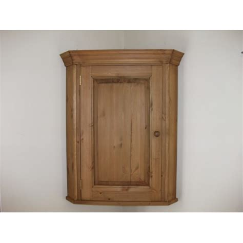 Corner Wall Cupboard by Pine 1 Door Wall Corner Cupboard W67 5cm