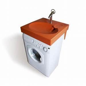 Siphon Extra Plat Lavabo : lavabo gain de place sur machine laver ~ Dailycaller-alerts.com Idées de Décoration