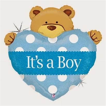 Shower Clip Boy Bear Teddy Clipart Balloon