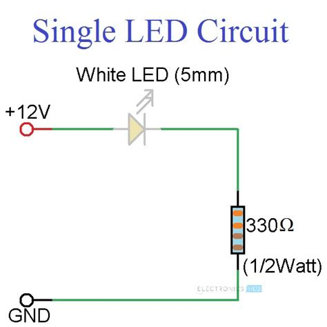 Simple Led Circuits Single Series Leds Parallel