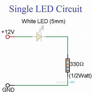 Simple Led Circuits  Single Led  Series Leds And Parallel