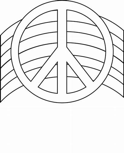 Peace Coloring Sign Pages Printable Sheets