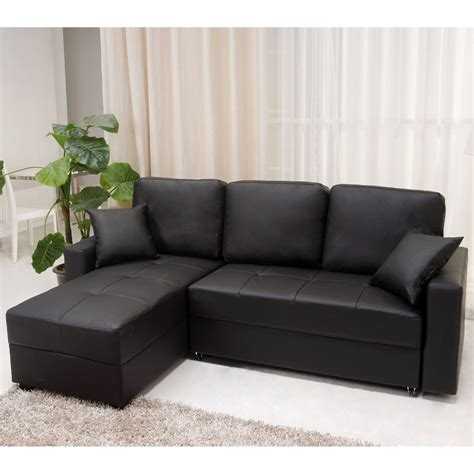 modular l shaped sofa small black vinyl modular couch with chaise of captivating