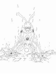 Nine Tailed Chakra Mode Naruto by fl13 on DeviantArt