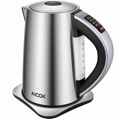 Kettle Electric Temperature Aicok Control Tea Stainless