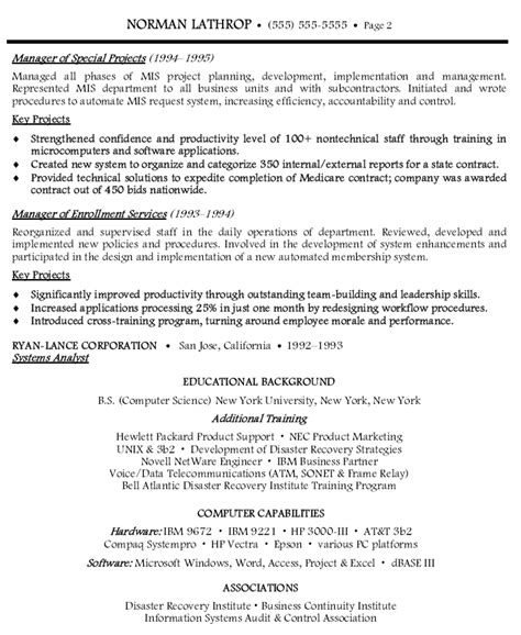 28 information on a resume sle resume for information