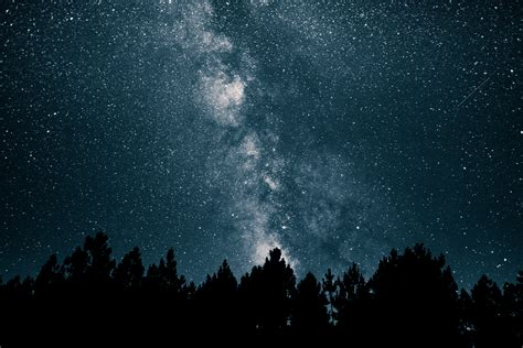 Wallpaper Starry Night Sky Stars Space Galaxy