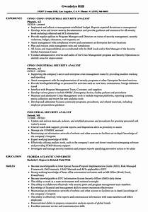 Reusme Builder Industrial Security Analyst Resume Samples Velvet Jobs