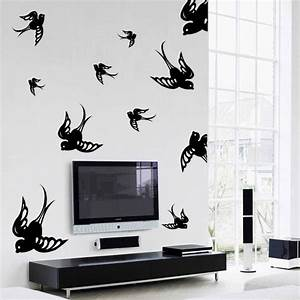 flying sparrows wall decal kit contemporary home With kitchen colors with white cabinets with window fly trap stickers