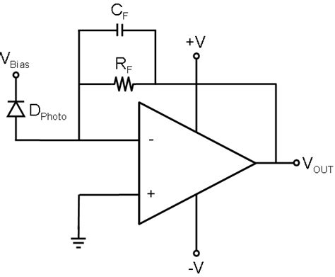 photodiode light detector circuit op photodiode lifier circuit electrical