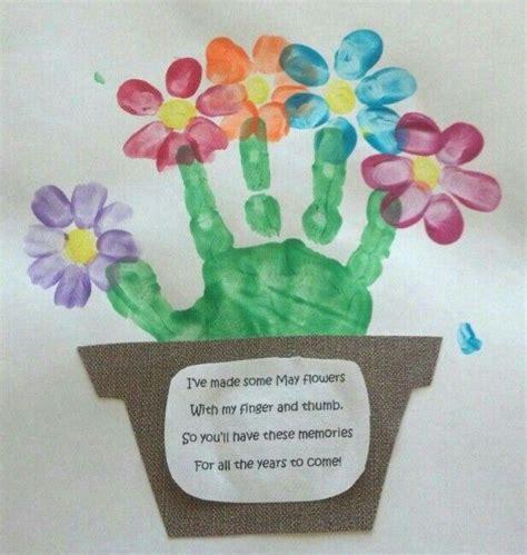 flower basket spring crafts preschool preschool
