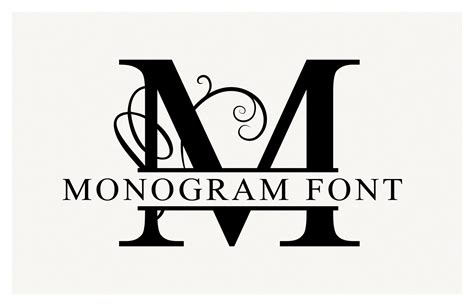 Split Monogram Font & Vectors