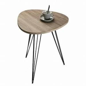 Table Basse D Appoint : table d 39 appoint design en m tal et bois seattle achat vente table basse table d 39 appoint ~ Teatrodelosmanantiales.com Idées de Décoration