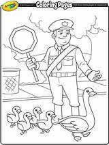 Coloring Traffic Pages Crayola Cop Police Crossing Guard Printable Engineering Colouring Drawing Sheets Helpful Colour Community Preschool Craft Adult Australia sketch template
