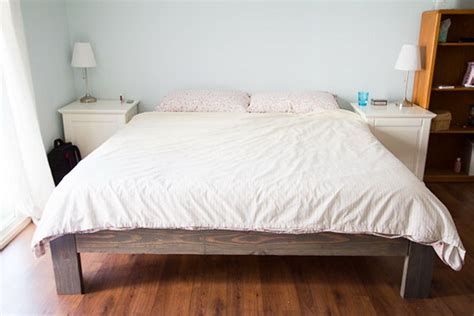 diy king bed frame 30 budget friendly diy bed frame projects tutorials Diy King Bed Frame