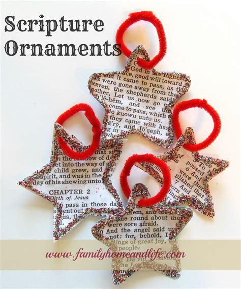 the truth about christmas decorations with bible verses hill house homestead scripture ornaments