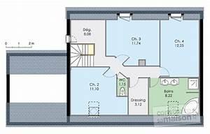 maison moderne de quatre chambres detail du plan de With plan maison demi niveau 4 maison familiale 8 detail du plan de maison familiale 8