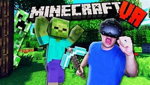 TRAPPED IN THE WORLD OF MINECRAFT?! | Minecraft VR ...