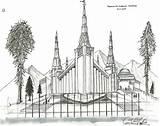 Temple Coloring Lds Temples Spokane Adult God Activity Template sketch template