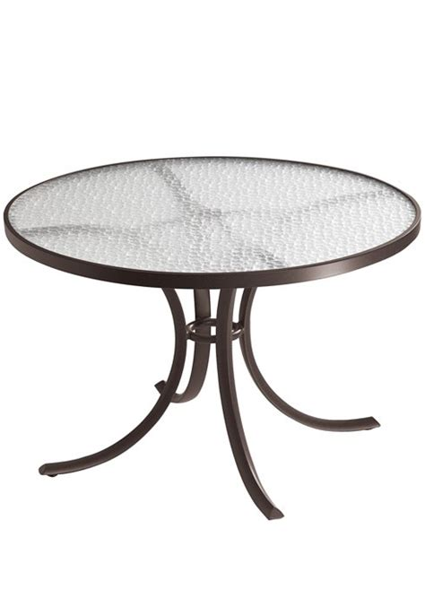 round plexiglass table top dining table 42 quot round with acrylic top hauser 39 s patio