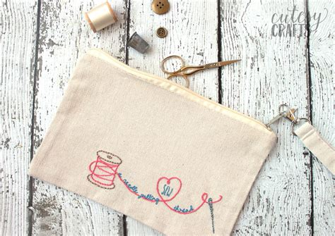 adorable diy sew  needle pulling thread bag  hand embroidery designs
