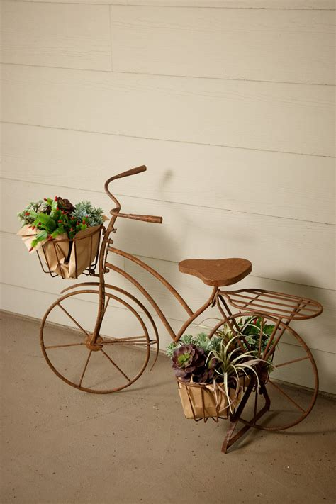 large bicycle plant holder   baskets