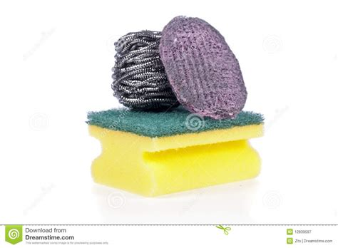 scouring pad a scouring pad sponge a steel wool soap pad royalty free