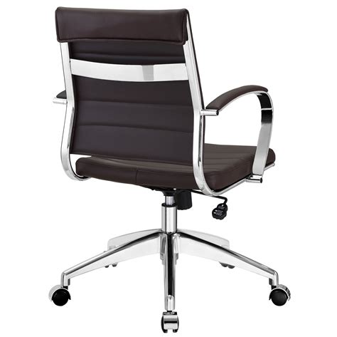 modway jive mid back office chair in brown beyond stores