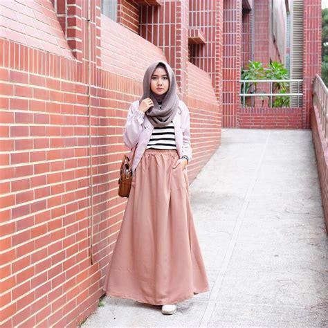 outfit rok  hijabers ala selebgram sneakerskets