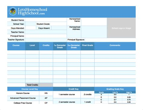 report card template   excel  documents