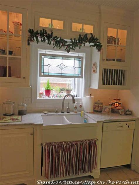 Beautiful Farmhouse Kitchen Renovation   Stained glass