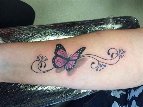 butterfly tattoo butterfly  swirls pretty girly