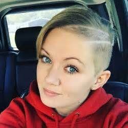 Half Shaved Hairstyle with Pixie Cuts for Women