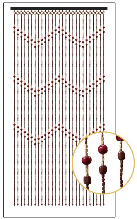 bamboo bead curtain ziggy 35 5 quot x 67 quot 27 strands