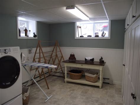 basement remodel laundry room  metro  carrie