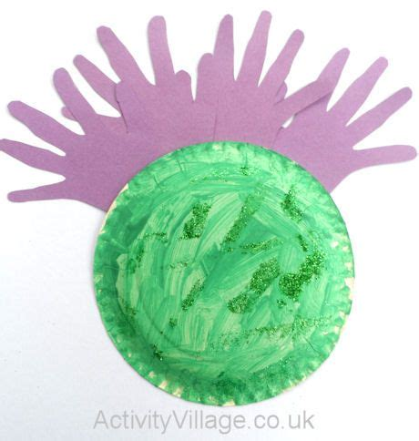 paper plate thistle st andrews day activities