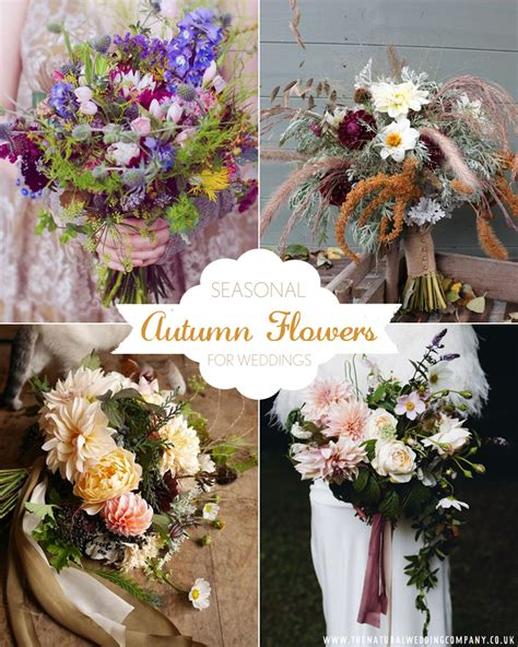 choose seasonal blooms   autumn wedding