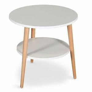 Table Basse D Appoint : table basse d 39 appoint duddy 45cm blanc ~ Teatrodelosmanantiales.com Idées de Décoration