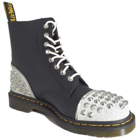 dr  martens  dai white black cristal leather boots ebay
