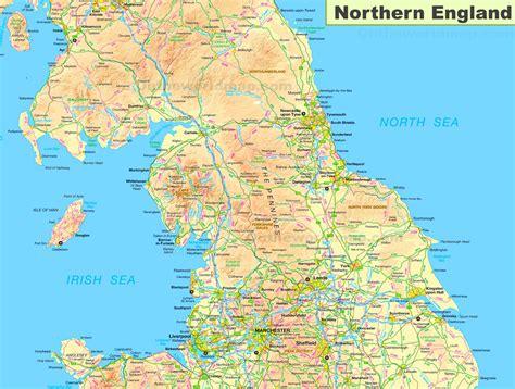 map  northern england