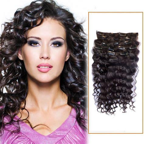 16 Inch 2 Dark Brown Clip In Human Hair Extensions Deep