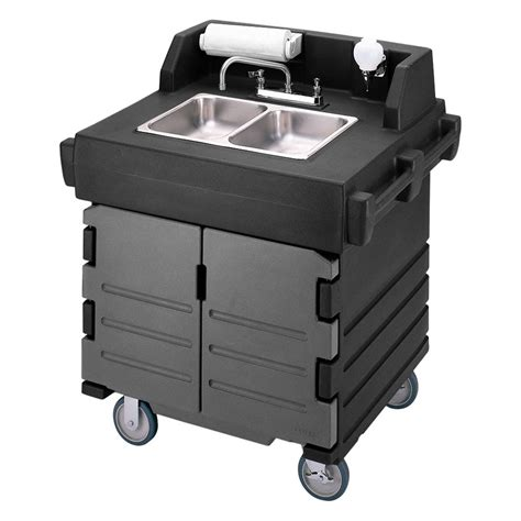 portable shoo bowl for kitchen sink cambro ksc402426 45 5 quot h portable sink cart w 2 4 quot d