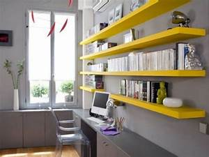 43 cool and thoughtful home office storage ideas digsdigs for Wall storage ideas for office