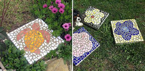 Mosaik Legen Tische Und Baenke Werden Zu Scherben Kunstwerken by Japanische Trittsteine Aus Bits Keramik Selber Basteln