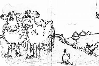 Coloring Moo Clack Pages Cows Type Popular