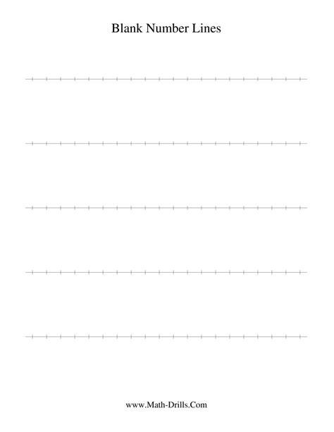 Printable Blank Number Line Worksheet