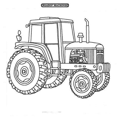 Tractor Kleurplaat by Farmer Tractor Coloring Page Print