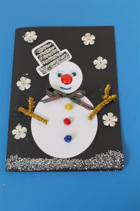 christmas card craft ks2 card craft idea for children early years