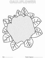 Coloring Cauliflower Pages sketch template