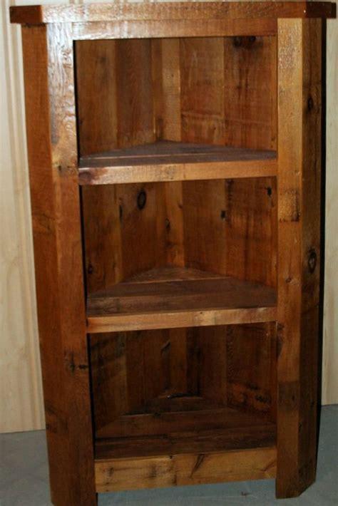 barnwood corner cabinet barn wood furniture rustic barnwood  log furniture  vienna